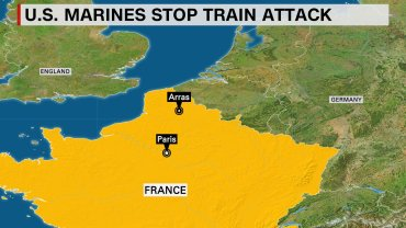 A massacre on a high-speed train in France was prevented Friday, August 21, 2015, when two U.S. Marines in civilian clothing surprised an Islamist militant who was loading his automatic Kalashnikov rifle, a senior European counterterrorism official told CNN.