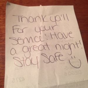 anonymous note to fay police