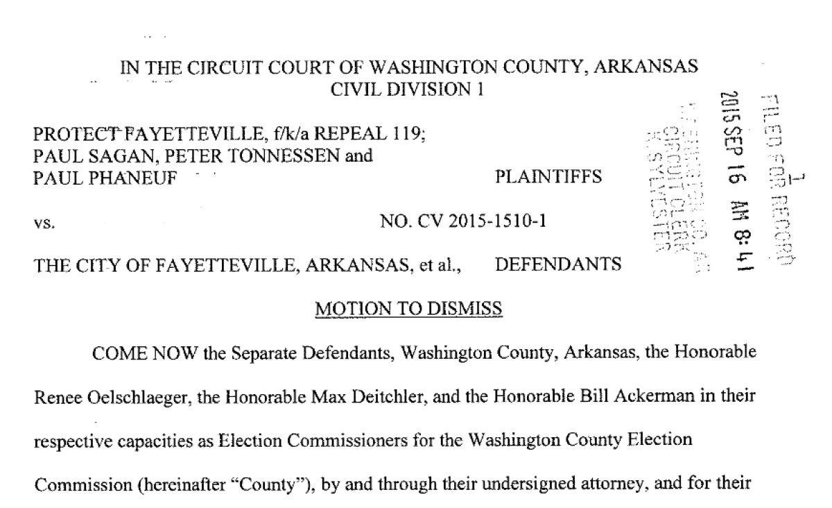 Washington County Attorney Files Motion To Dismiss Protect