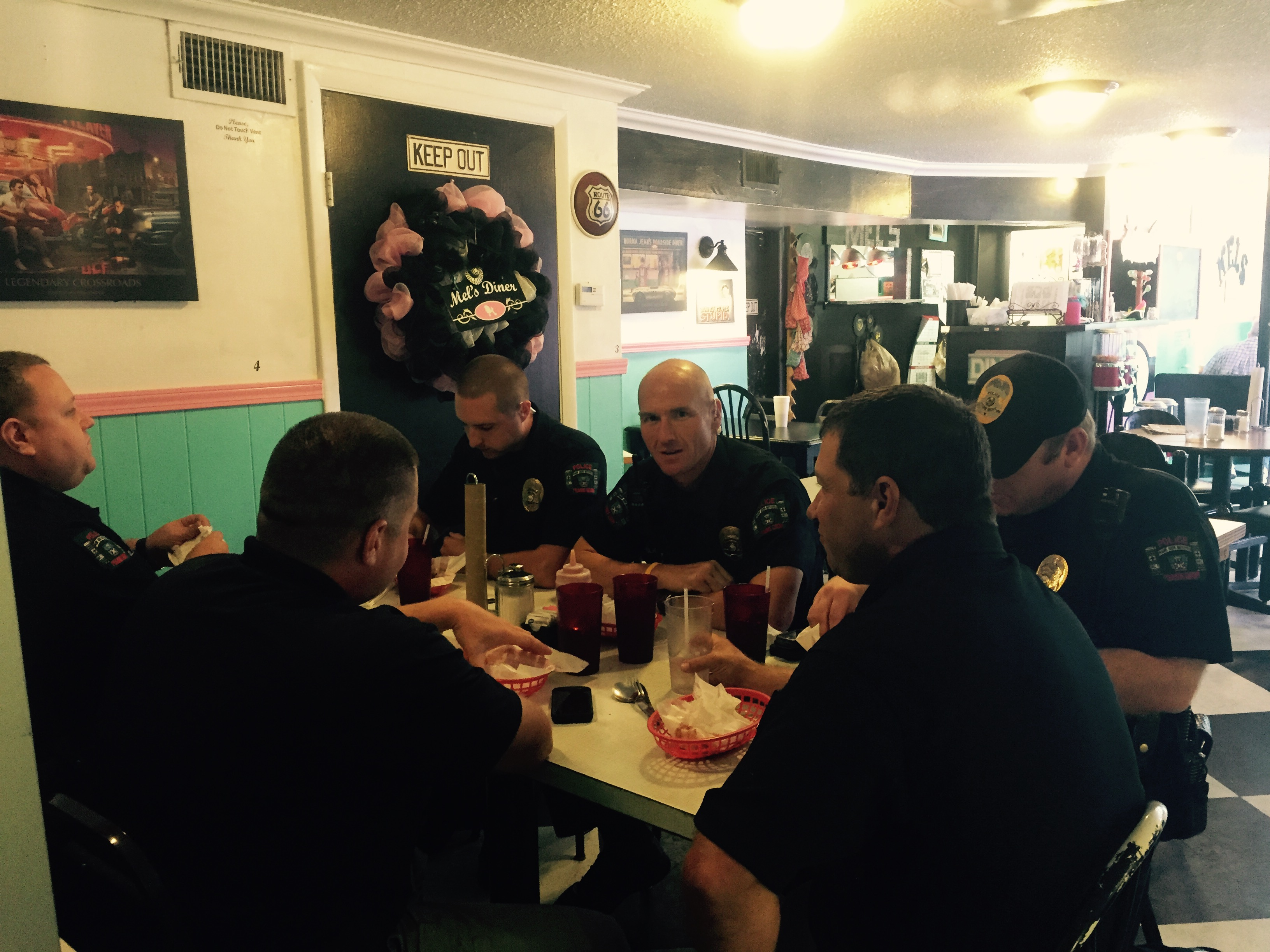 Mel's Diner in Prairie Grove treated first responders and active-military members to free lunch to honor the first responders who rushed in to help on 9/11.