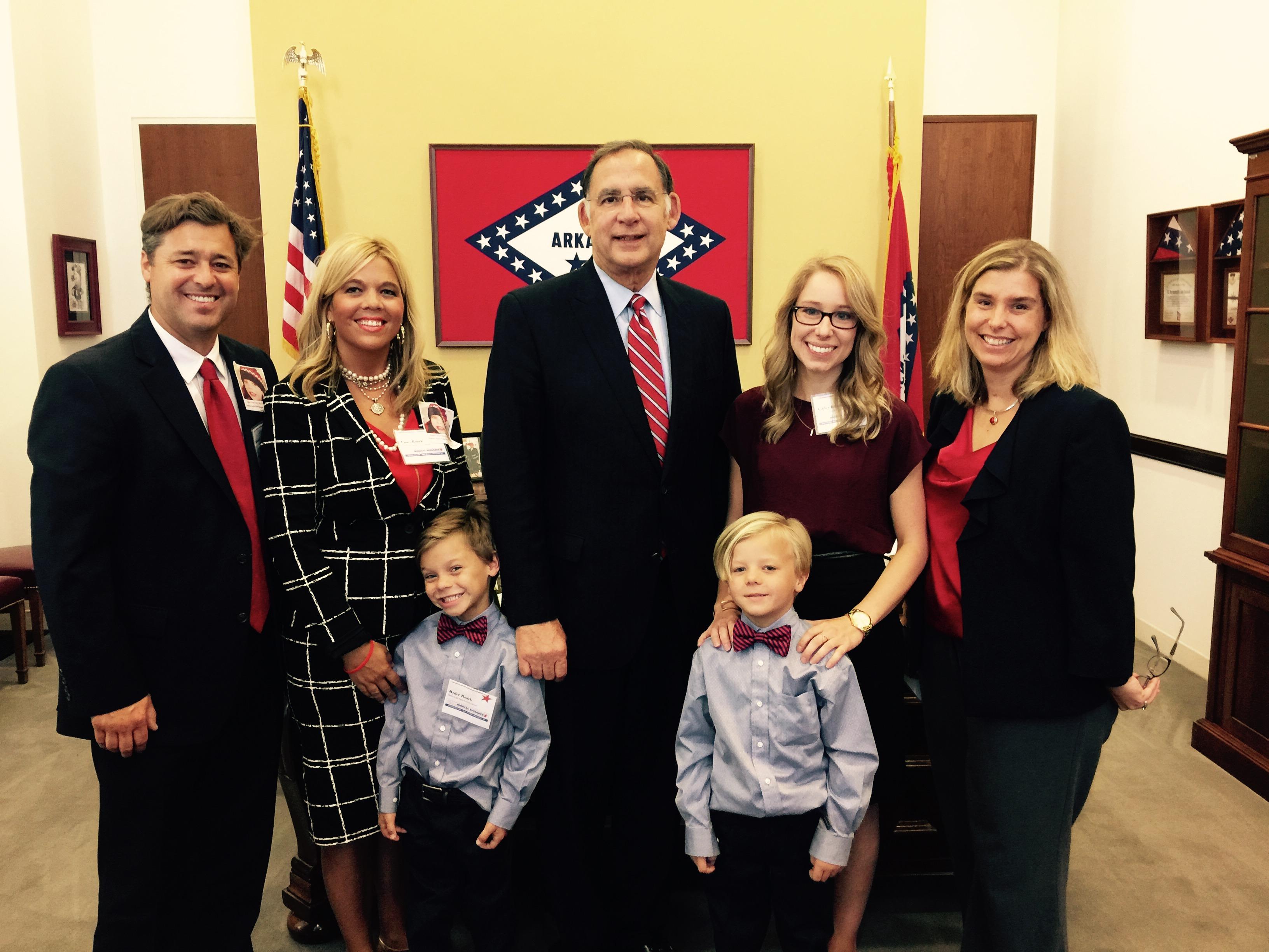 Ryder and his family with Sen. John Boozman.
