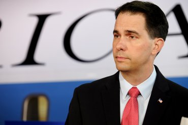 Scott Walker appears the CNN Republican Presidential Debate in Simi Valley, California on September 16, 2015.