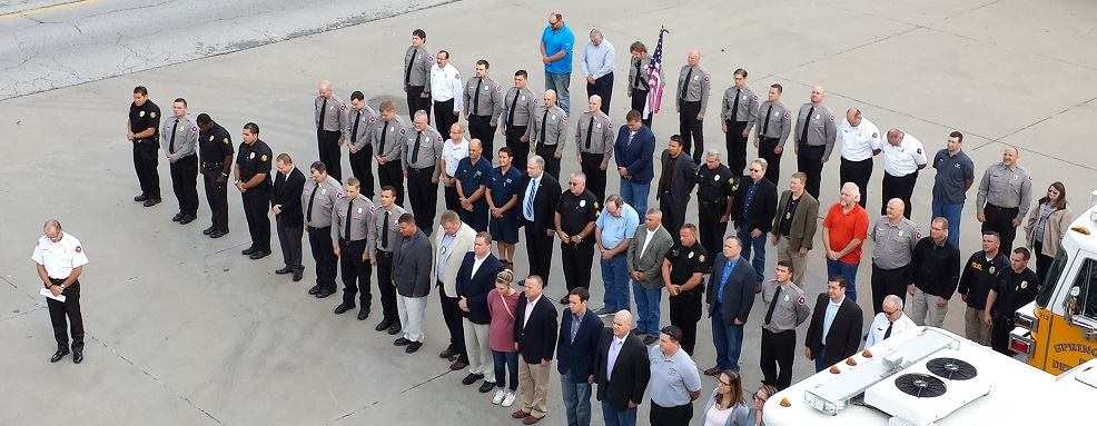 The City of Springdale and Springdale police and fire came together Friday morning in remembrance of 9/11 victims and survivors.
