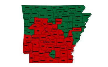Arkansas Burn Bans as of Oct. 12
