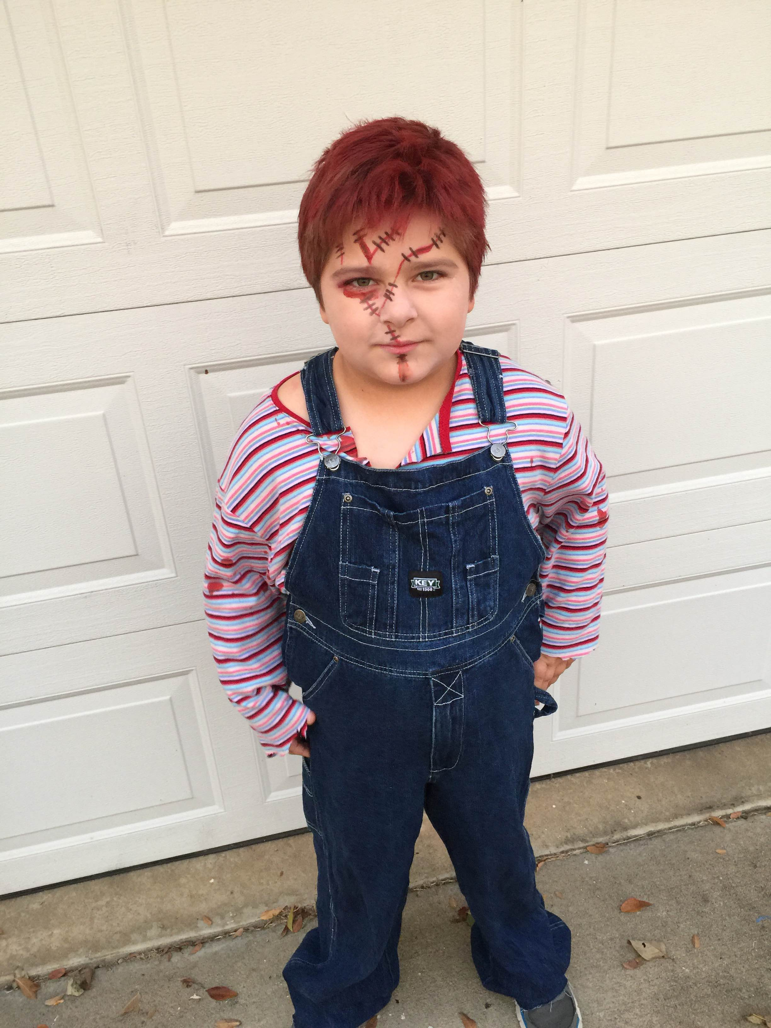 Kadyn Wormke dressed up for Halloween
