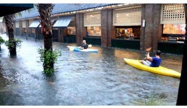 Flooding in Charleston, SC.