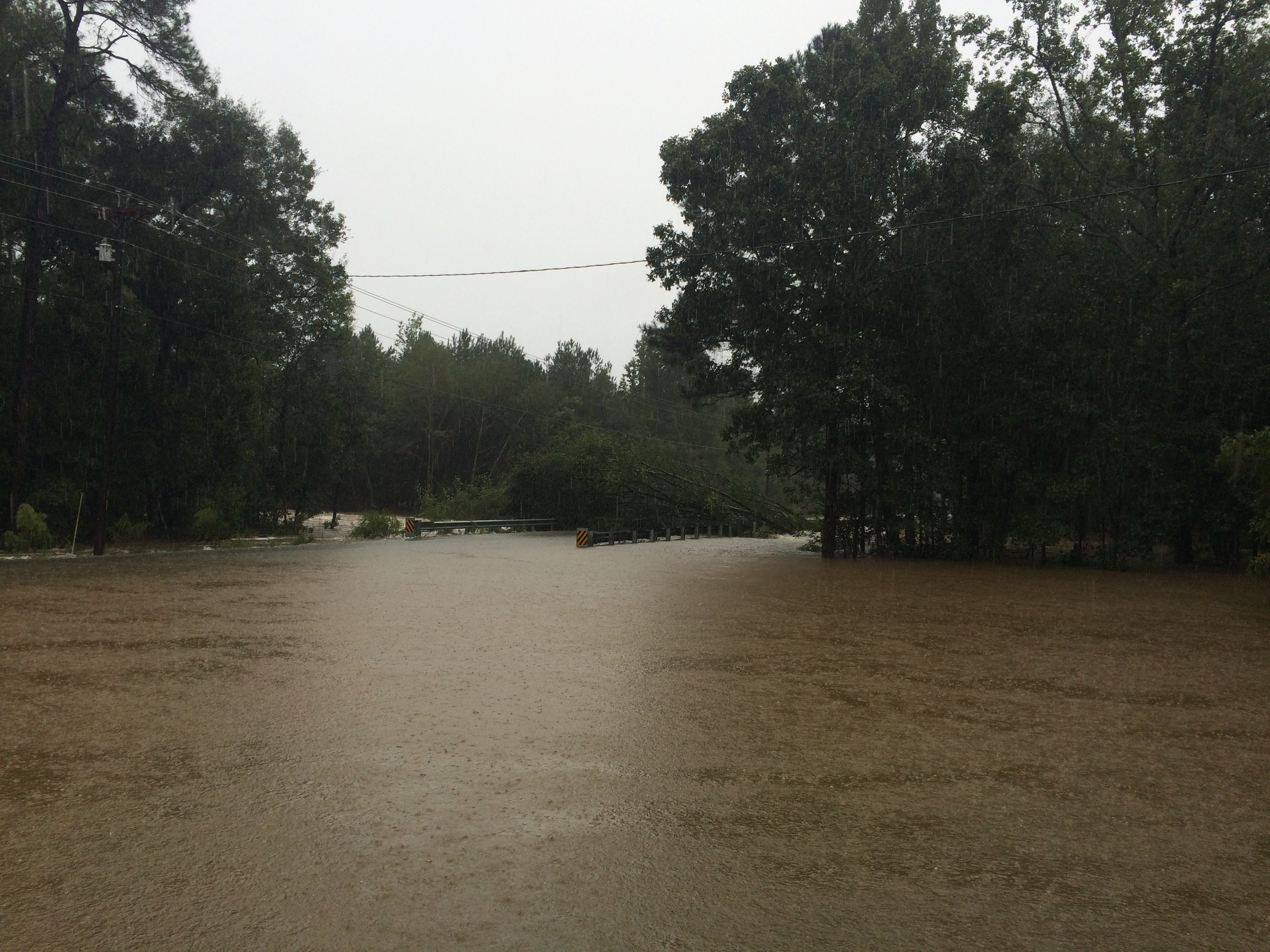 Flooding in Lugoff, SC.