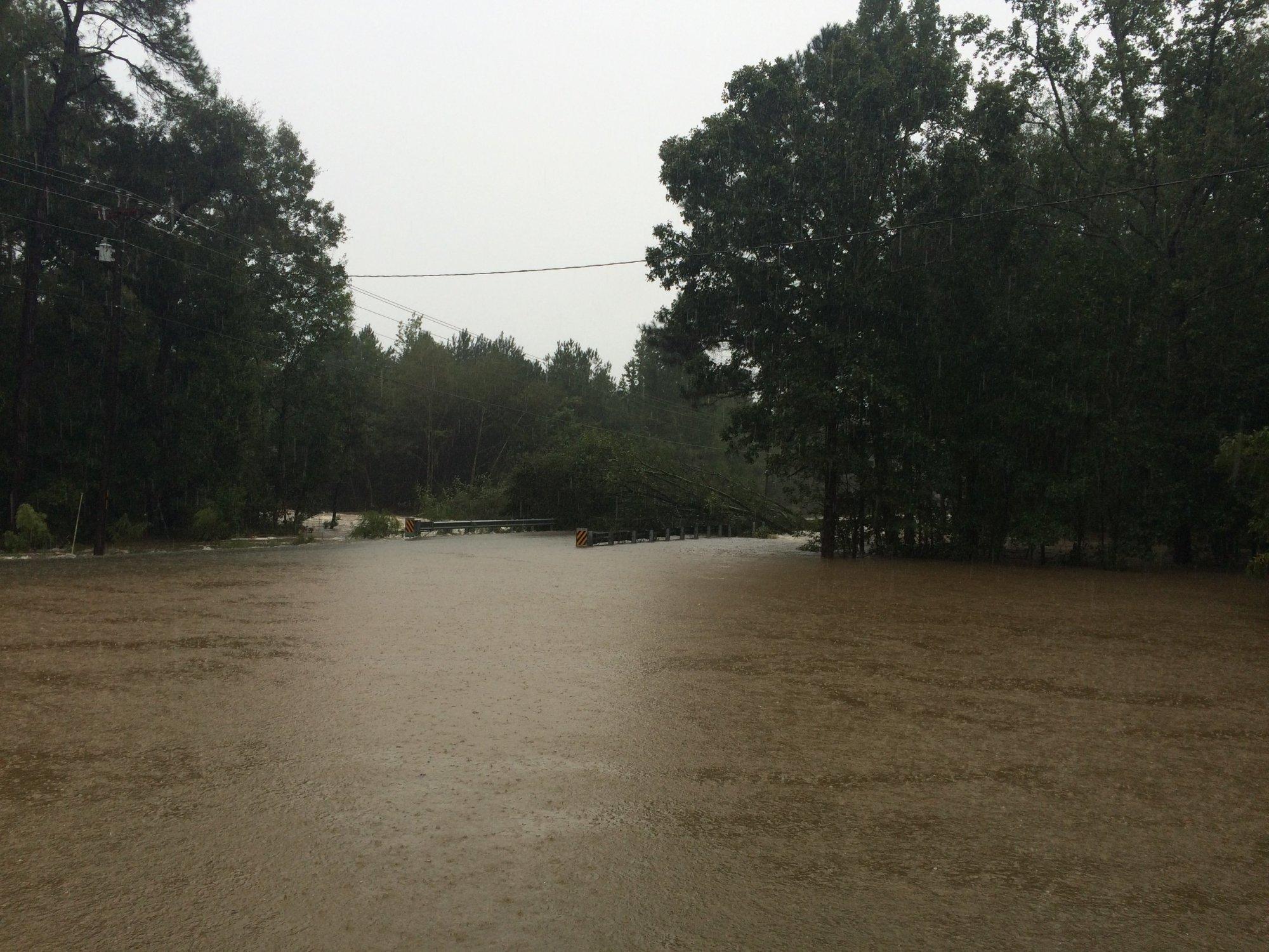 Flooding in Lugoff, SC.