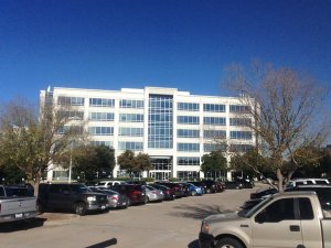 Building in Frisco, Texas where Dragonfly Industries has a suite.