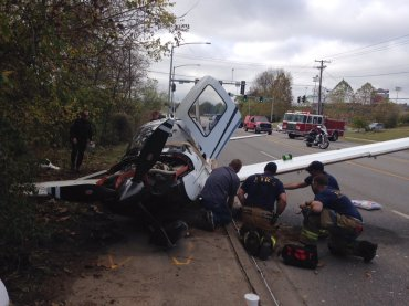 Small plane makes an emergency landing on MLK Blvd. in Fayetteville.