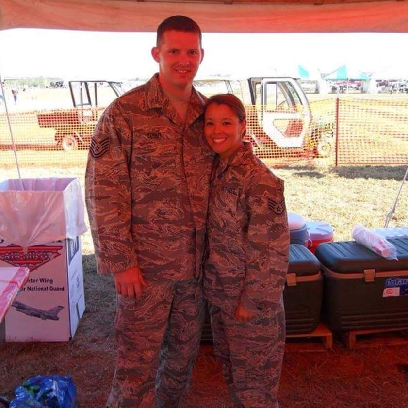 Airmen Chris Corbit and Caressa Soriano of the United States Air Force