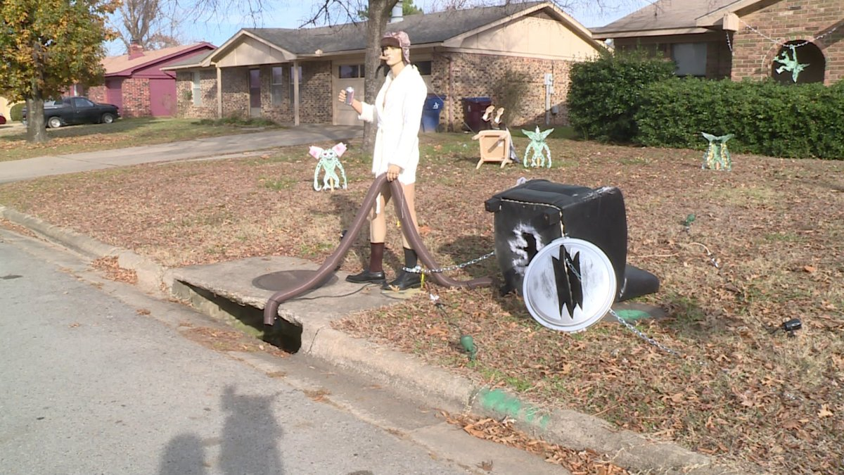 christmas vacation lawn decorations stolen after going viral fort smithfayetteville news 5newsonline kfsm 5news - National Lampoons Christmas Vacation Decorations