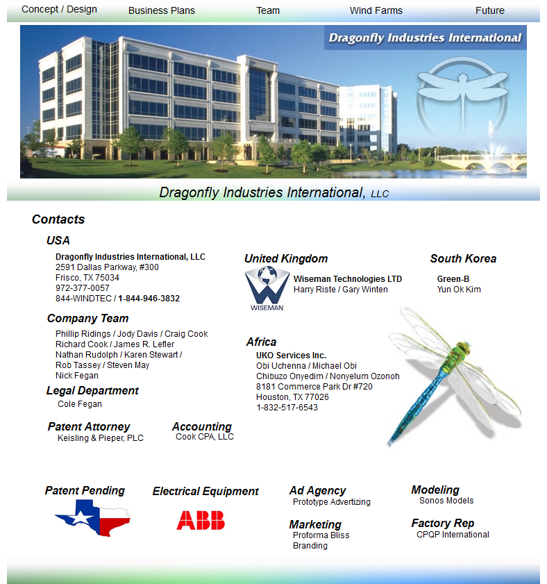 Location information and photograph on Dragonfly Industries' website.