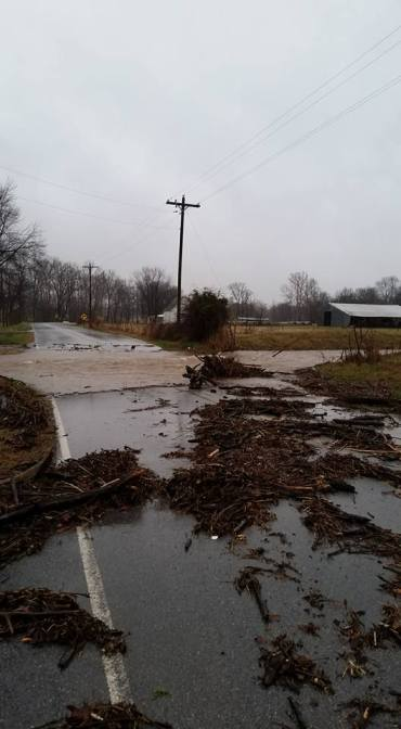 Photo: Mill Dam Rd. in Cave Springs, sent in by Julie Rose