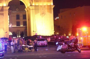 Police investigate the scene on the Strip in Las Vegas, NV that left one person dead and 37 injured after a car plowed into a group of pedestrians on Sunday, December 20, 2015.  *Embargo: Las Vegas, Nevada*
