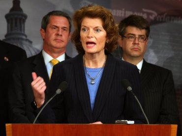 FILE- Senator Lisa Murkowski holds a press conference on March 12, 2012.