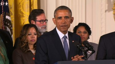 "President Barack Obama said Tuesday that the United States must feel a ""sense of urgency"" in addressing the wave of mass shootings in recent years. ""We do have to feel a sense of urgency about it,"" Obama said from the White House, surrounded by gun violence victims and their families."