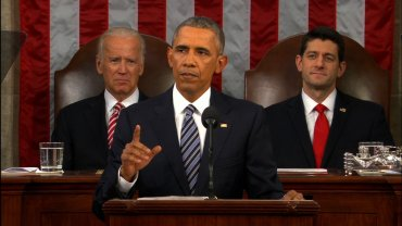 President Barack Obama delievers his last state of the union address on January 12, 2016.