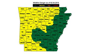 Arkansas fire threat - Feb. 4