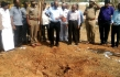 Indian authorities inspect the site of a suspected meteorite landing on February 7, 2016 in Vellore district in southern Tamil Nadu state in an impact that killed a bus driver and injured three others on February 6. If proven, it would be the first such death in recorded history. The impact of the object left a large crater in the ground and shattered window panes in a nearby building, killing the driver who was walking past.   Photo credit: Getty Images