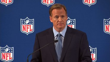 NFL Commissioner Roger Goodell announced at the first NFL Women's Summit that the so-called Rooney Rule will expand to women for all executive positions.  FILE -NFL Commissioner Roger Goodell held a press conference in New York on September 19, 2014 to address the league's domestic violence issues.