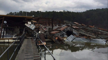 Damage at Mountain Harbor Resort and Spa in Mt. Ida.