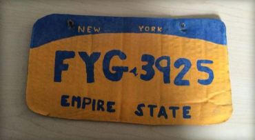 FAKE NY LICENSE PLATE