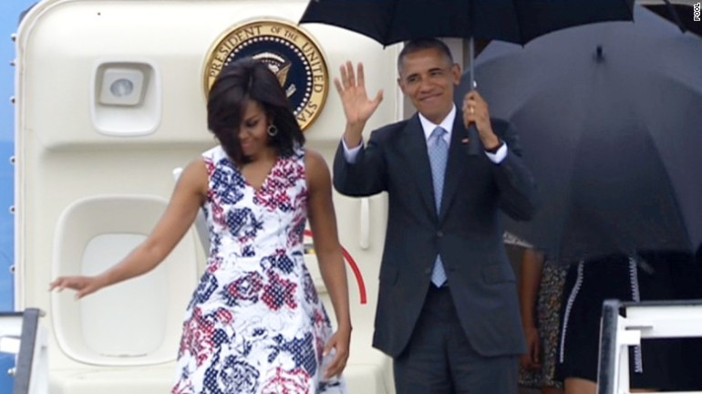 Obama arrives in Cuba to begin visit in thawing of ties
