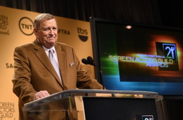 SAG-AFTRA President Ken Howard speaks onstage during TNT's 21st Annual Screen Actors Guild Awards Nominations Announcement at the SilverScreen Theater at the Pacific Design Center on December 10, 2014 in Los Angeles, California.