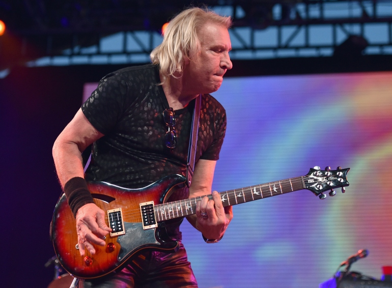 INDIO, CA - APRIL 16:  Musician Joe Walsh performs on stage with The Arcs during day 2 of the 2016 Coachella Valley Music & Arts Festival Weekend 1 at the Empire Polo Club on April 16, 2016 in Indio, California.  (Photo by Mike Windle/Getty Images for Coachella)