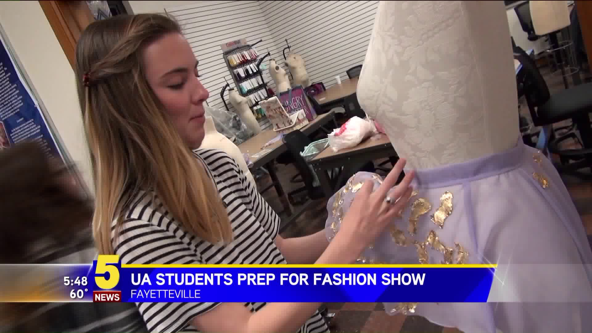 University of Arkansas students prepare for first ever, public fashion show on Wednesday.