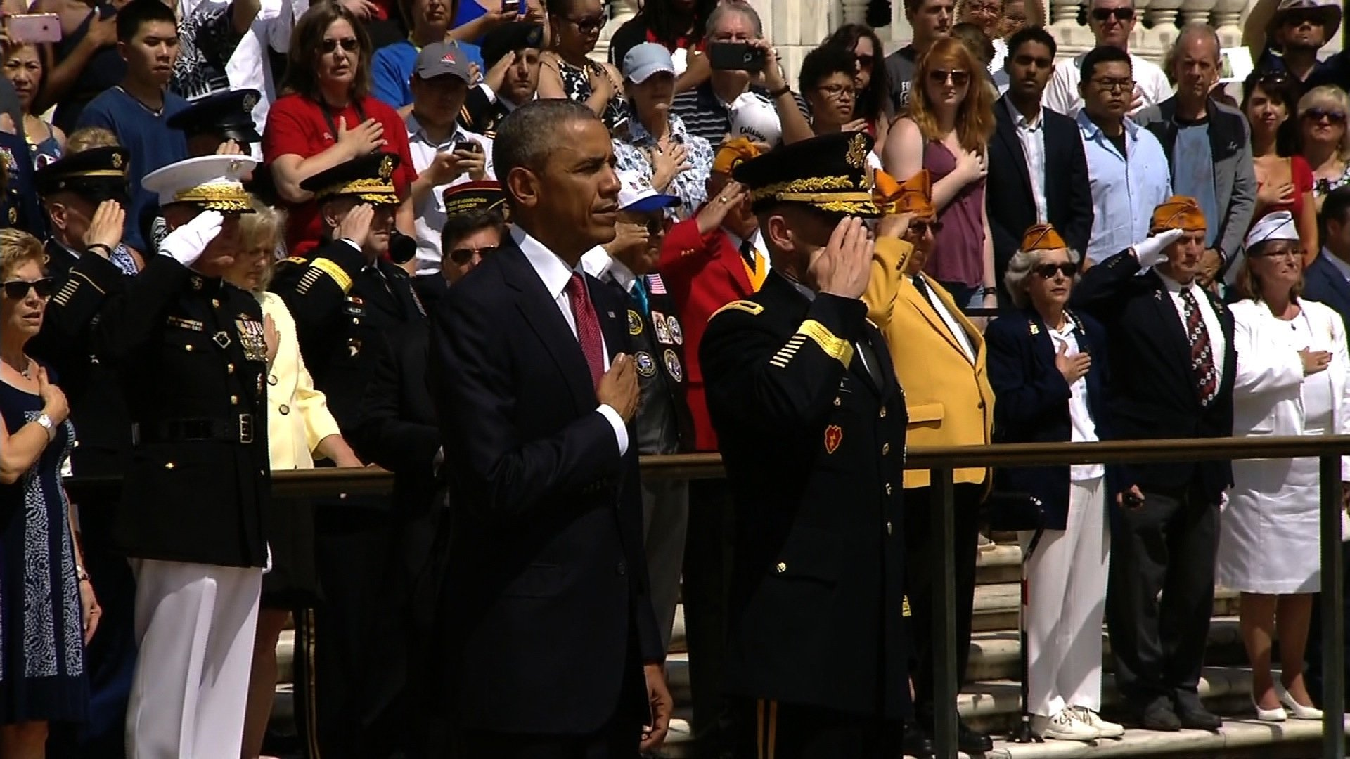 President Barack Obama marks his final Memorial Day as president by paying tribute to fallen U.S. soldiers at Arlington National Cemetery on Monday.