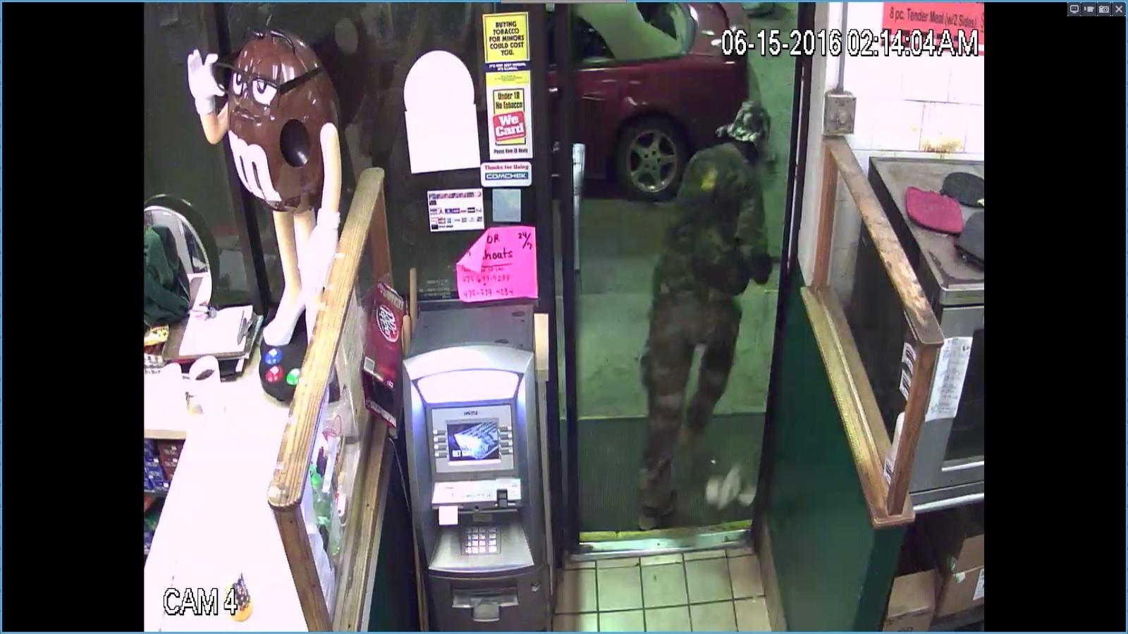 Clarksville Camo Suspect Leaving