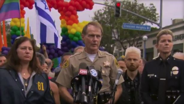 MAN ARRESTED AT LA PRIDE