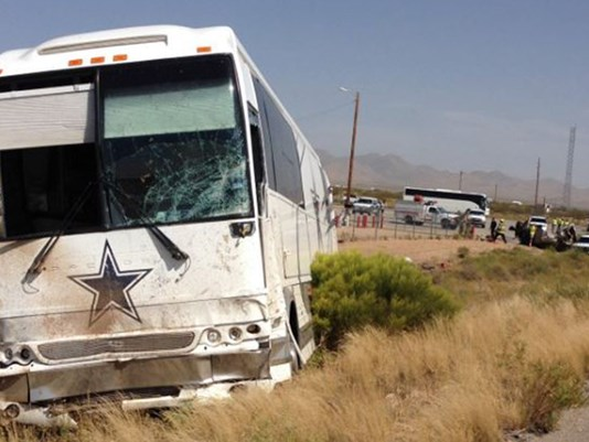A Cowboys tour bus was involved in a fatal crash Sunday afternoon in northwestern Arizona. Credit: Arizona Department of Public Safety