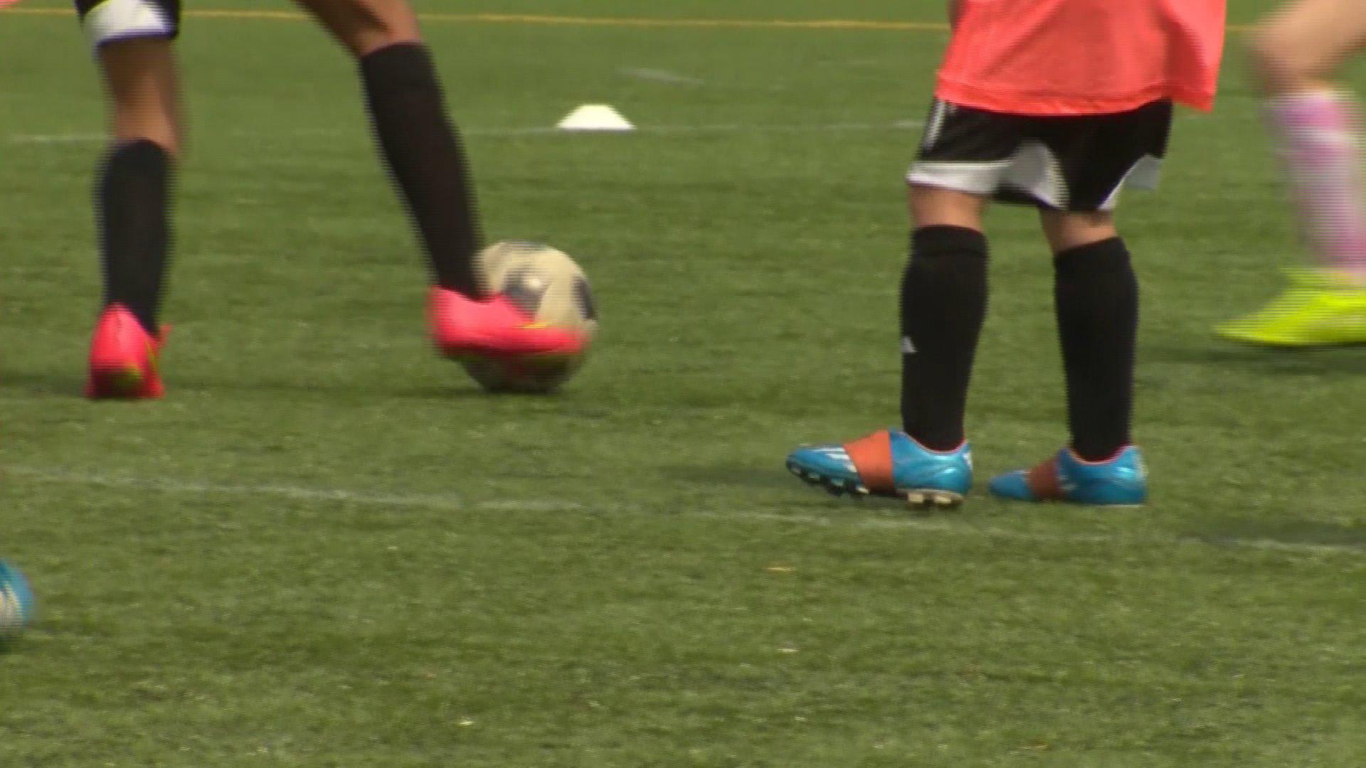Teen athlete soccer