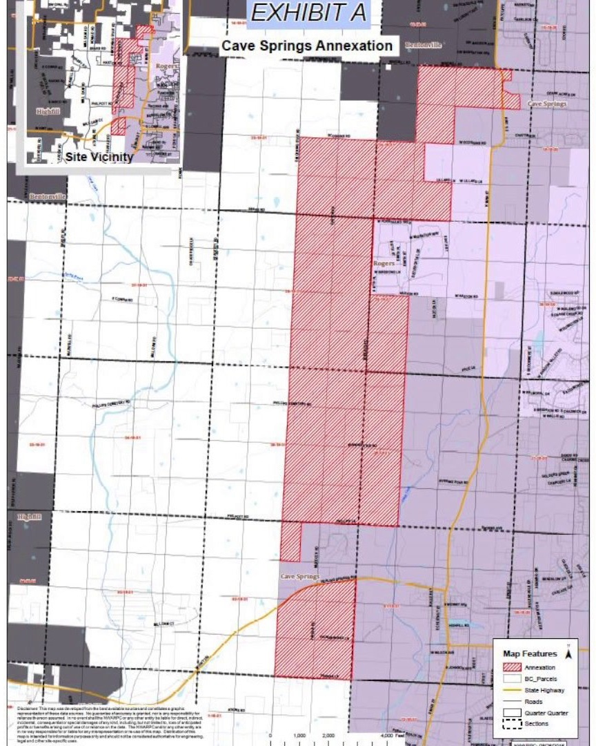 cave springs annexation