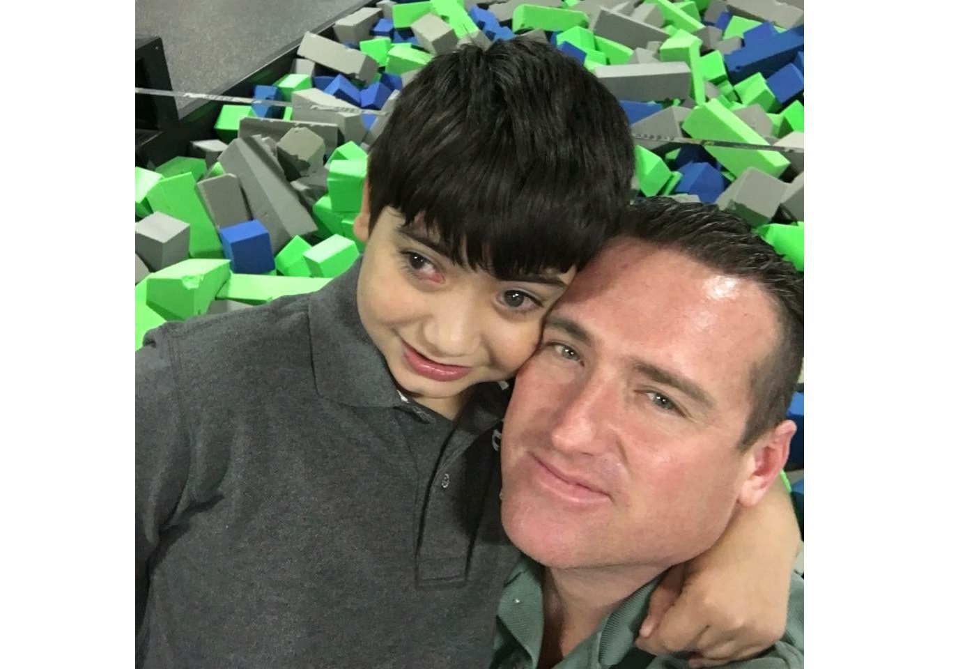 Jonathan Logston with his son (Courtesy of Logston family)