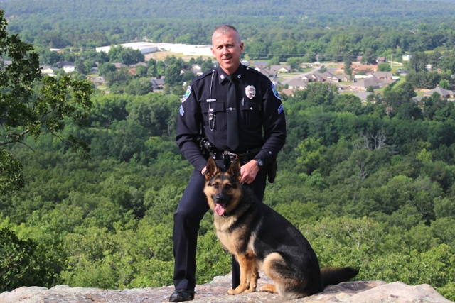 K-9 Kina with Greenwood Cpl. Dennis Wisner