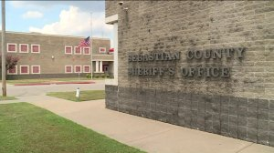 Flags lowered to half-staff at the Sebastian County Sheriff's Office