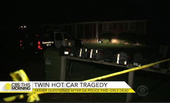 Twins hot car