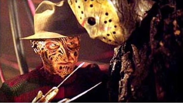 "Robert Englund as Freddy Krueger/Ken Kirzinger as Jason Voorhees in ""Freddy Vs. Jason."" New Line/Cinema"