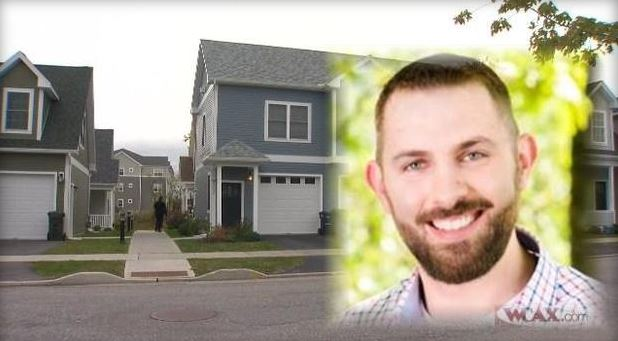 Courtesy: WCAX Steven Bourgoin, superimposed over an image of his home in Williston, VT