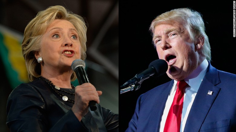 Clinton, Trump target two different Americas in final push