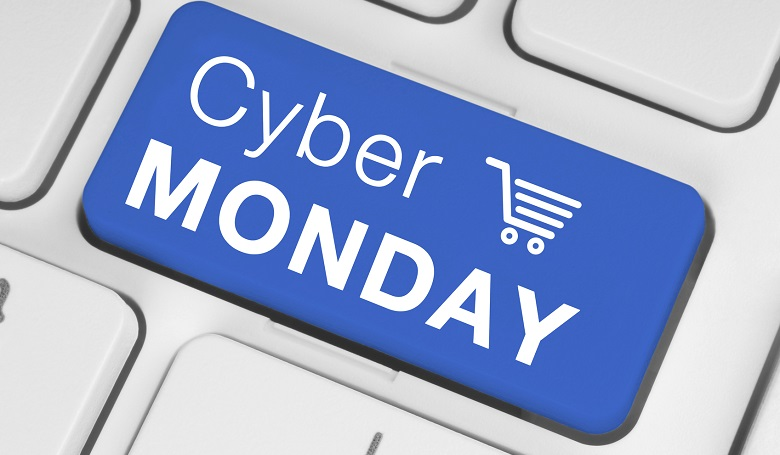 Cyber Monday sale on a keyboard