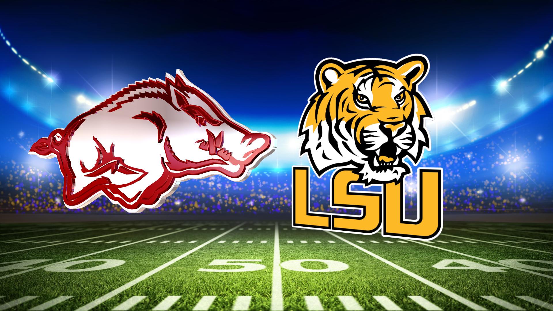 No. 1 LSU down Arkansas 56-20, books SEC title game berth