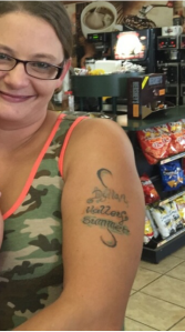 Carol Davidson's tattoo.