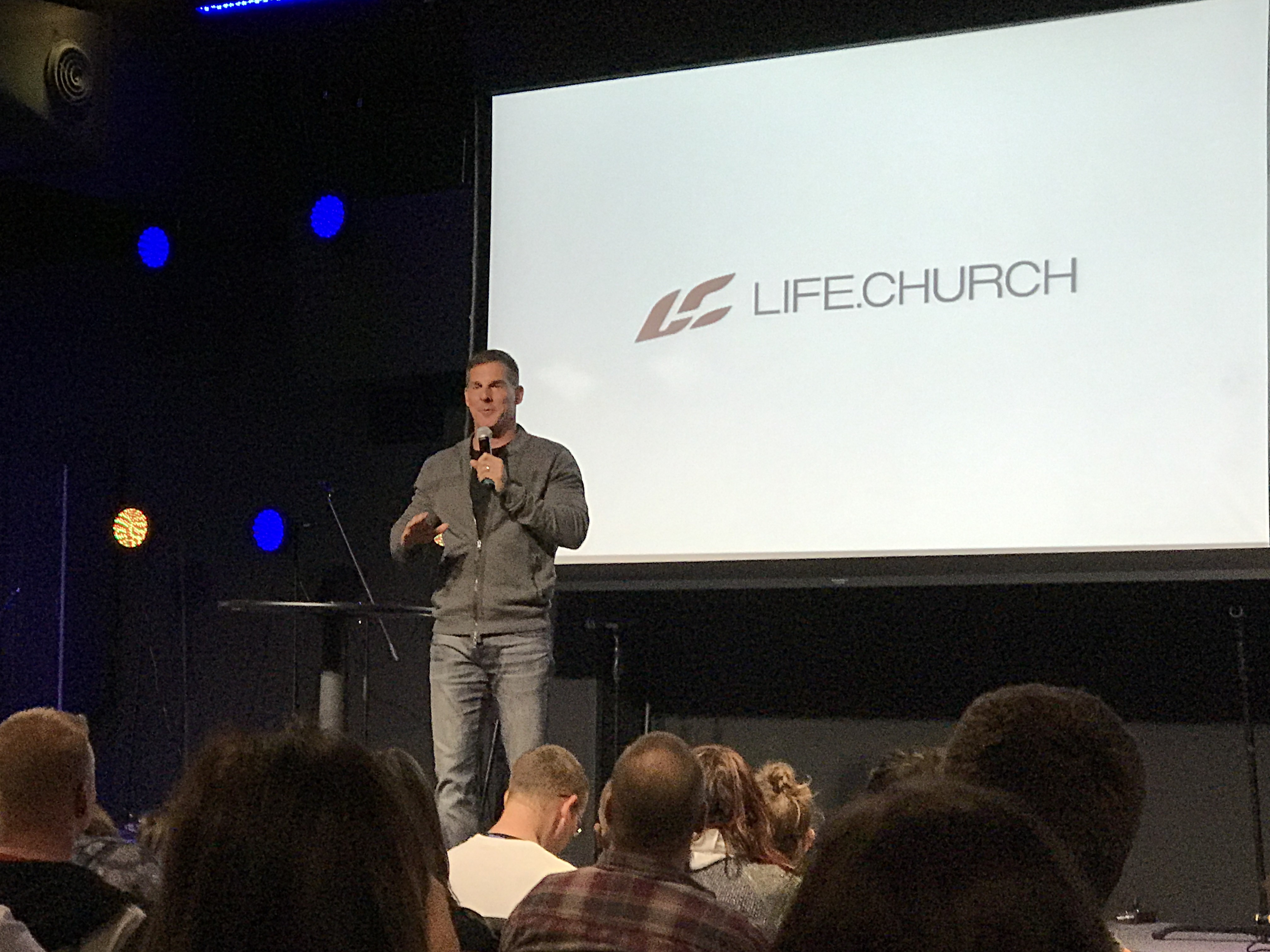 Life.Church senior pastor Craig Groeschel talks with the congregation before TheBod.church Fort Smith votes to become Life.Church Fort Smith