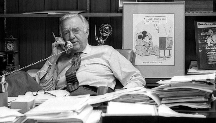 Walter Cronkite's last day as CBS Evening News anchor, March 6,1981. (CBS)
