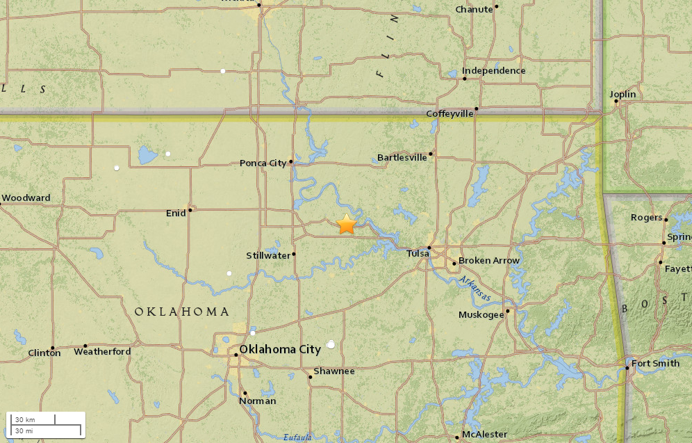 Another earthquake hits Oklahoma area shook by major temblor